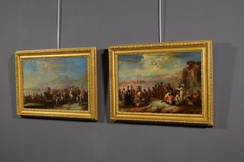 "Antiquités - The rest"" and the march of soldiers - Francesco Simonini (1686 - 1766)"