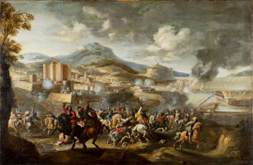 Marzio Masturzo, Battle between cavalry and vessels - 17th Century