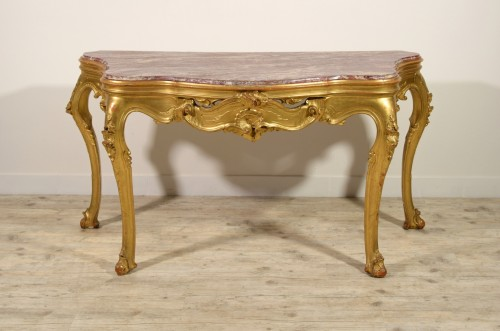 Furniture  - 19th Century, Venetian Carved Gilt wood Console Table