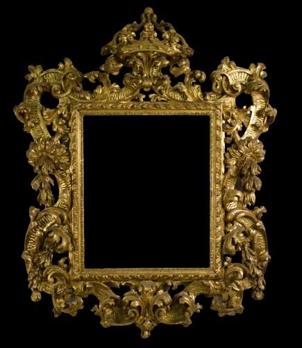 18th Century, Italian Baroque Gilt wood Mirror -