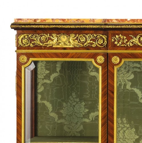 Furniture  - 19th Century, French Purple Wood Showcase with gilt bronze