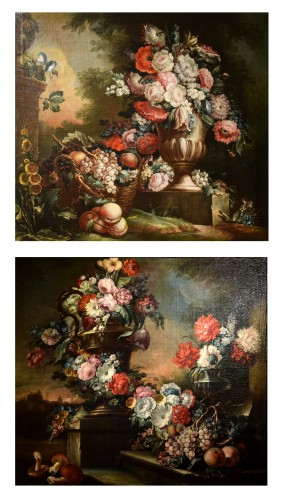 18th Century, Pair of Still Lifes by Pietro Francesco Gambone