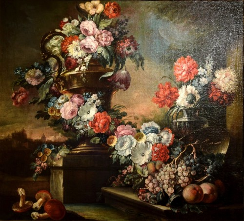 18th Century, Pair of Still Lifes by Pietro Francesco Gambone - Paintings & Drawings Style French Regence