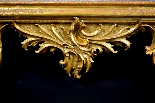 18th Century Venetian Carved and Gilt Wood Mirror - Mirrors, Trumeau Style Louis XV