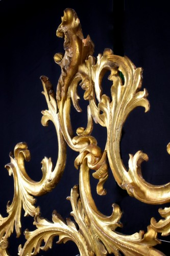 Mirrors, Trumeau  - 18th Century Venetian Carved and Gilt Wood Mirror