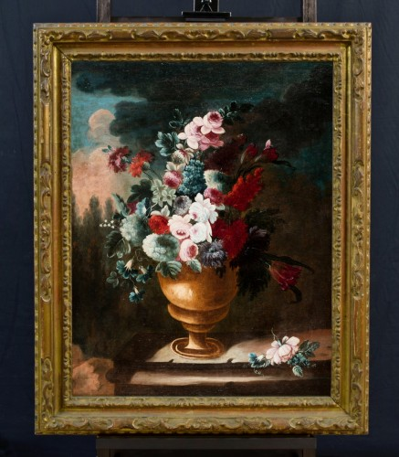 Giuseppe Lavagna (1684-1724) - Still life with floral composition - Paintings & Drawings Style
