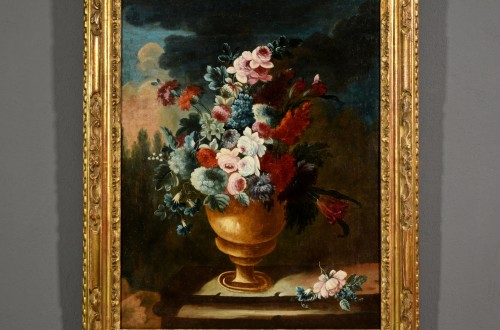 Paintings & Drawings  - Giuseppe Lavagna (1684-1724) - Still life with floral composition
