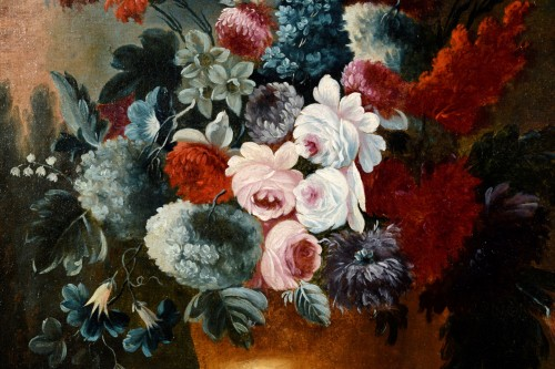18th century - Giuseppe Lavagna (1684-1724) - Still life with floral composition