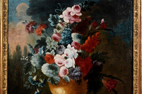 Giuseppe Lavagna (1684-1724) - Still life with floral composition -