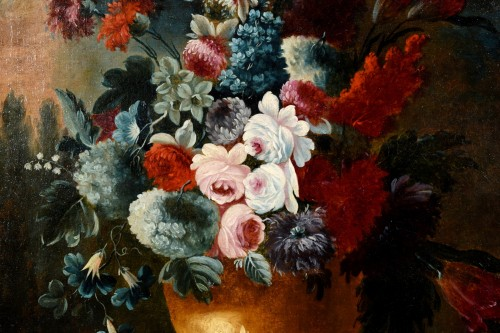 Antiquités - Giuseppe Lavagna (1684-1724) - Still life with floral composition