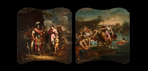 18th Century, Pair of Italian Paintings With Stories of Rome -