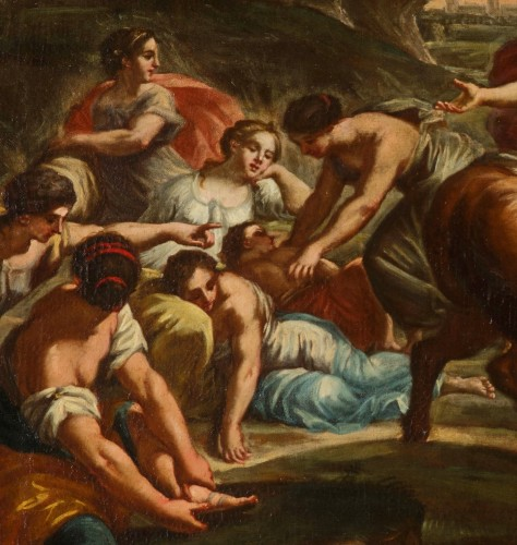 Antiquités - 18th Century, Pair of Italian Paintings With Stories of Rome