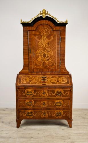 18th century Italian Inlaid Wood Secretary  - Furniture Style