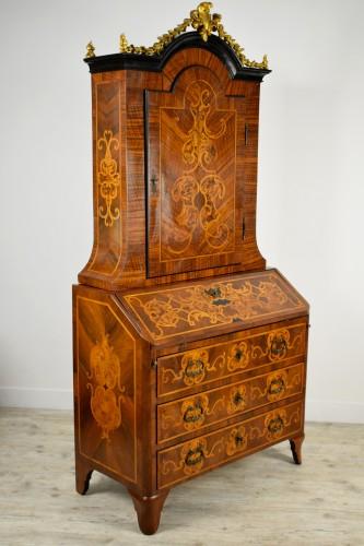 18th century Italian Inlaid Wood Secretary  -