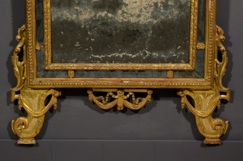 Antiquités - 18th Century, Italian Carved and Gilt Wood Mirror