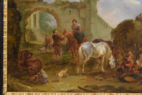Paintings & Drawings  - Jan Miel (follower of), The bambocciante scene