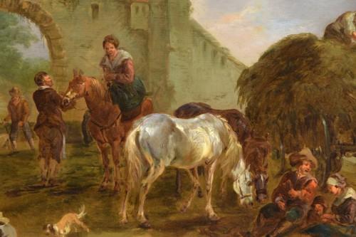17th century - Jan Miel (follower of), The bambocciante scene