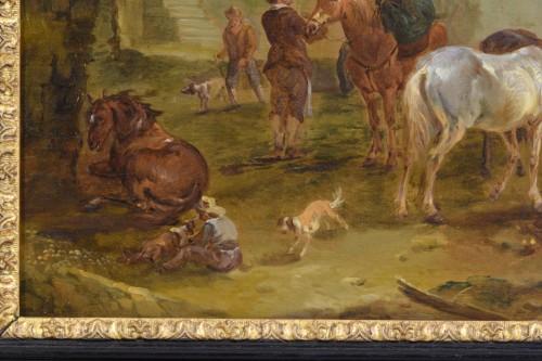 Antiquités - Jan Miel (follower of), The bambocciante scene