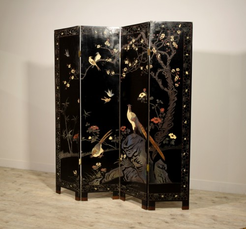 Asian Works of Art  - Early 20th Century, Oriental Coromandel Screen