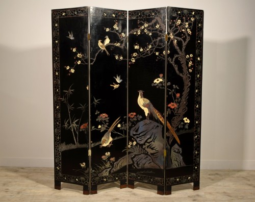 Early 20th Century, Oriental Coromandel Screen -
