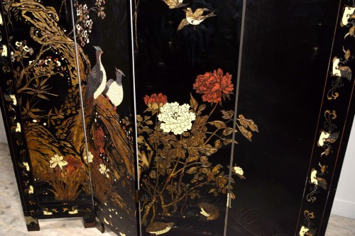Antiquités - Early 20th Century, Oriental Coromandel Screen