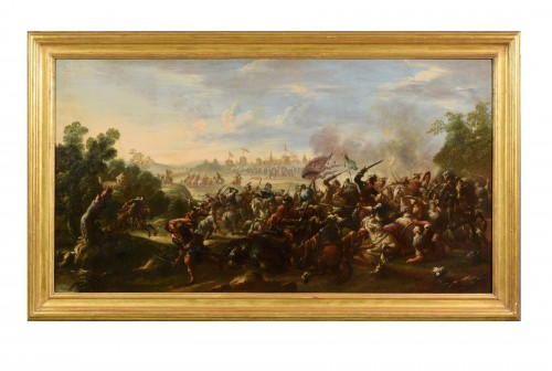 17th Century, Italian Battle Between Christian And Turkish Cavalry