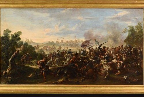 17th Century, Italian Battle Between Christian And Turkish Cavalry - Paintings & Drawings Style