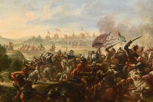 17th Century, Italian Battle Between Christian And Turkish Cavalry -
