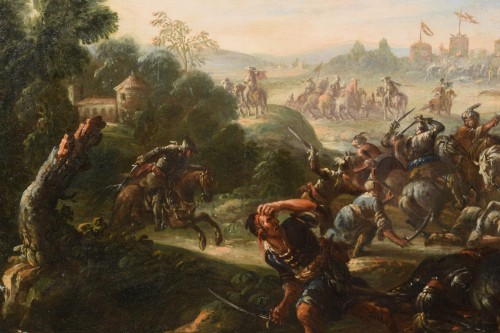 - 17th Century, Italian Battle Between Christian And Turkish Cavalry