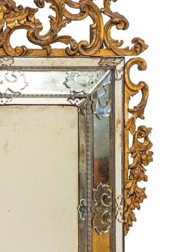 Mirrors, Trumeau  - 19th Century, Italian Carved Giltwood Mirror, Italy