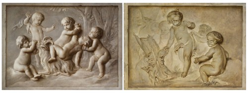 Pair Of Paintings Representing Trompe l'Oeil, Attr. Piat Joseph Sauvage