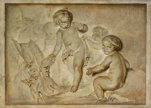 Pair Of Paintings Representing Trompe l'Oeil, Attr. Piat Joseph Sauvage - Paintings & Drawings Style