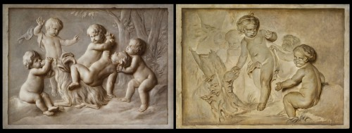 Pair Of Paintings Representing Trompe l'Oeil, Attr. Piat Joseph Sauvage -
