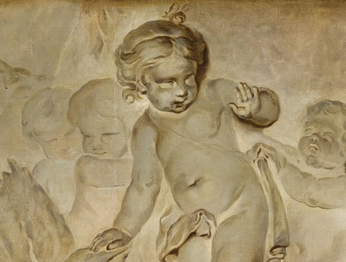 - Pair Of Paintings Representing Trompe l'Oeil, Attr. Piat Joseph Sauvage