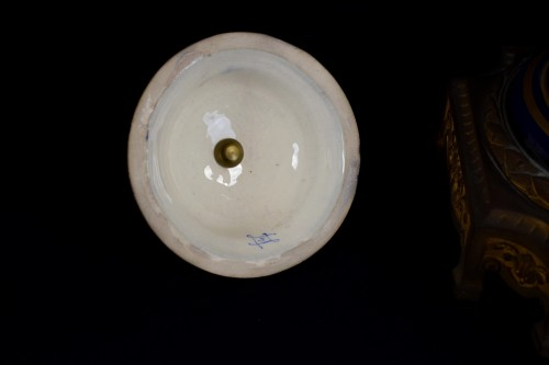 19th century - 19th Large Ormolu Mounted Sèvres Stile Porcelain Cobalt-blue Vase