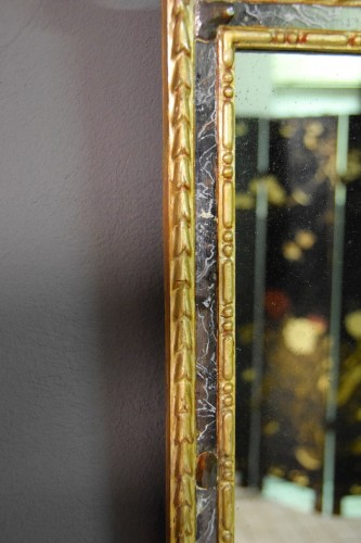 18th Century, Pair Of Italian Neoclassical Carved And Gilded Wood Mirrors - Louis XVI