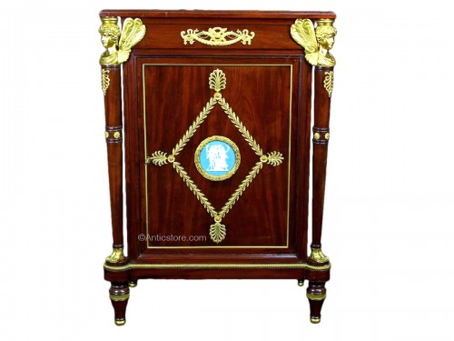 19th Century, French Empire Style Mahogany Cabinet