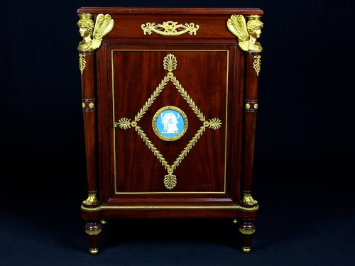 19th Century, French Empire Style Mahogany Cabinet - Furniture Style