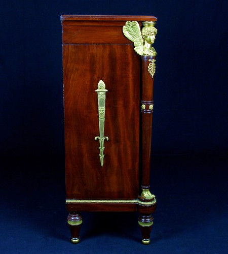 Furniture  - 19th Century, French Empire Style Mahogany Cabinet