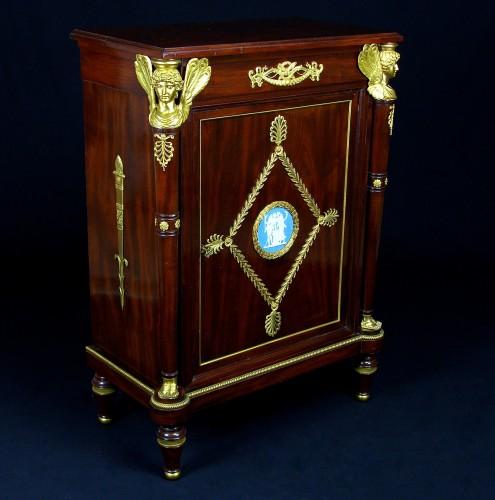 19th Century, French Empire Style Mahogany Cabinet -