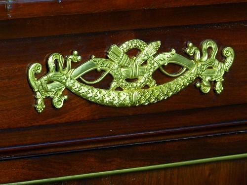 19th century - 19th Century, French Empire Style Mahogany Cabinet