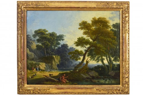 Landscape With  Figures - Giuseppe Zocchi (1711-1767)