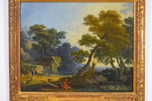Landscape With  Figures - Giuseppe Zocchi (1711-1767) - Paintings & Drawings Style