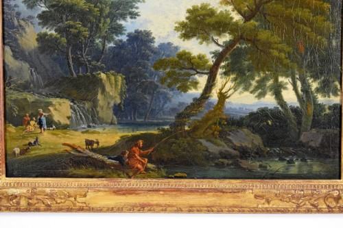 Paintings & Drawings  - Landscape With  Figures - Giuseppe Zocchi (1711-1767)