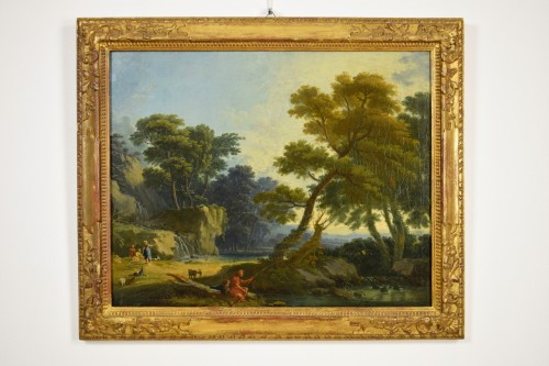 Landscape With  Figures - Giuseppe Zocchi (1711-1767) -