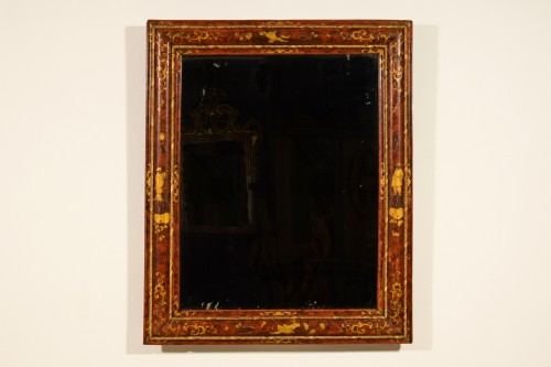18th Century, Venetian Wood Mirror lacquered with Chinoiserie - Mirrors, Trumeau Style