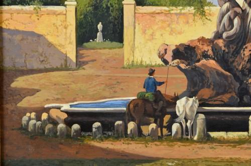 - 19th Century, Italian View Of The Forum Boario Of Rome With Vesta Temple