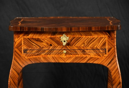 18th century - 18th Century, Italian (Genoa) Louis XV Violet Wood Coffee Table