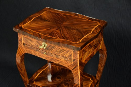 Louis XV - 18th Century, Italian (Genoa) Louis XV Violet Wood Coffee Table