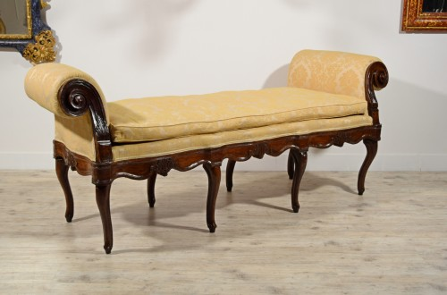 18th Century, Italian Walnut Wood Bench - Louis XV